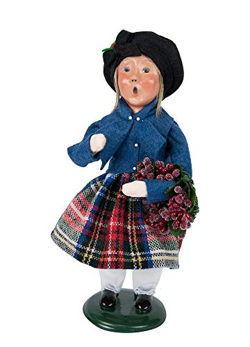 Byers' Choice Clark Shopper Girl Caroler Figurine #1183G from The Caroling Families - Choice Girl Byers