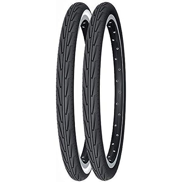 Michelin Cubierta, Rennradreifen CityJ, 37-440 (500A Confort), Schwarz/Weiãÿ, FA003466038, Blanco, 500 A: Amazon.es: Deportes y aire libre