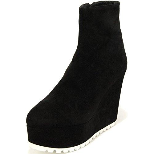 Camoscio Miu No Stivale Scarpa Donna Nero Boots Zeppa 2294g Box Women Shoes HFHYw4q