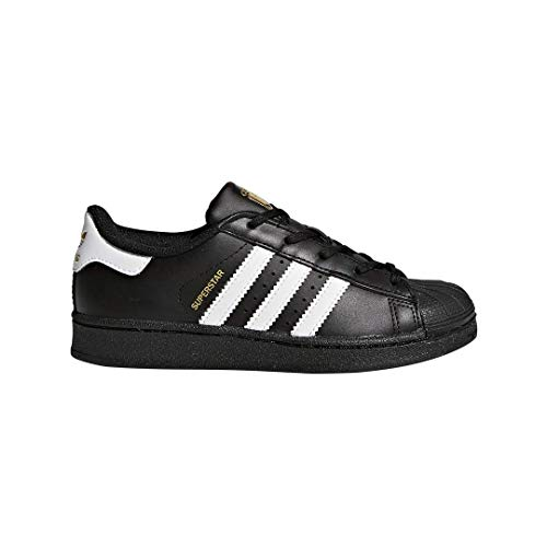- adidas Originals Superstar Running Shoe, White/Black, 1 Medium US Little Kid