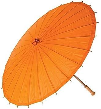 No: 1 bambú chinos japonesa sustancias sol paraguas blanco, verde: Amazon.es: Deportes y aire libre