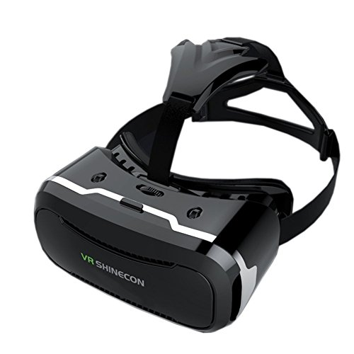 3D VR Glasses, Seetru VR Virtual Reality Headset with 360 Degree Panoramic & 120 Degree View for 3D Viewing Video Movie & 3D Games Compatible with 4.0~6.0 inch iOS & Android Windows Smart Phones