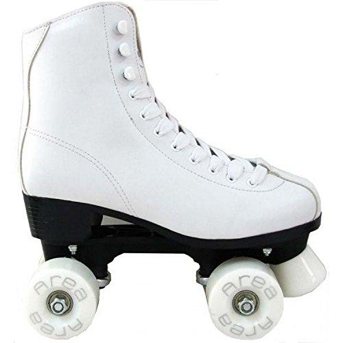 Rollschuhe für Eiskunstlauf-QUAD Weiß F4QUAD