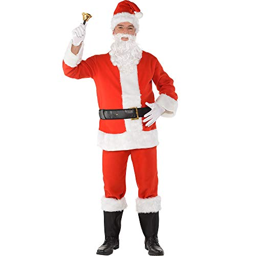 Party City Flannel Santa Suit Costume Kit for Adults, Christmas Costume, 3X -