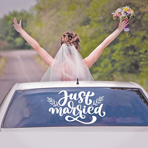 (Vinyl Wall Art Decal - Just Married - 22