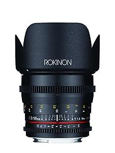 Rokinon Cine DS 50 mm T1.5 AS IF UMC Full Frame Cine Lens for Canon EF Cameras