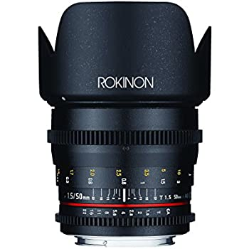 Rokinon DS50M-C Cine DS 50 mm T1.5 AS IF UMC Full Frame Cine Lens for Canon EF Cameras - Fixed