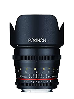 Rokinon DS50M-NEX Cine DS 50 mm T1.5 AS IF UMC Full Frame Cine Wide Angle Lens for Sony E-Mount Cameras (NEX) (B00N5TM28G)   Amazon price tracker / tracking, Amazon price history charts, Amazon price watches, Amazon price drop alerts