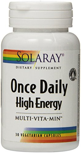 Solaray Once Daily High Energy Vitamin Capsules, 30 Count