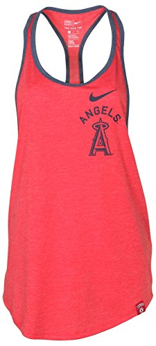 NIKE Women's MLB Los Angeles Angels Tank Top-Gym Red Heather-XS