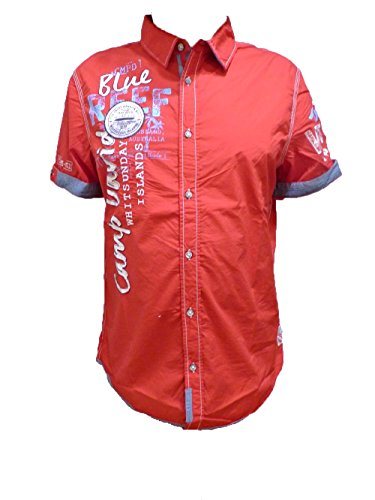 CAMP DAVID TROPICAL WATERS II LOBSTER RED REGULAR FIT M L XL XXL XXXL