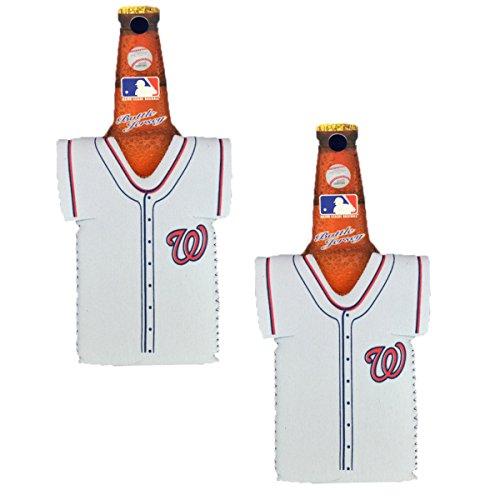 Official Major League Baseball Fan Shop Authentic MLB 2-pack Insulated Bottle Team Jersey Cooler (Washington - Blank Washington Nationals