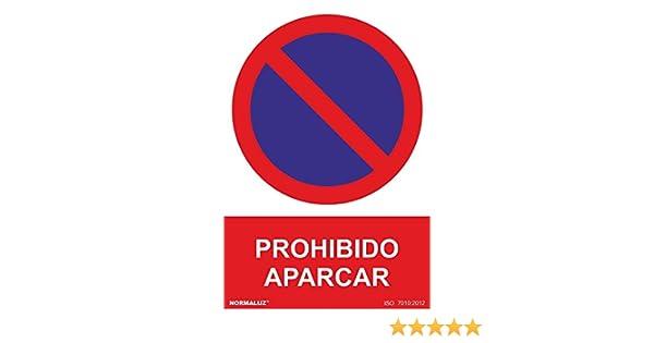 Normaluz RD45640 - Señal Adhesiva Prohibido Aparcar Adhesivo de Vinilo 15x20 cm
