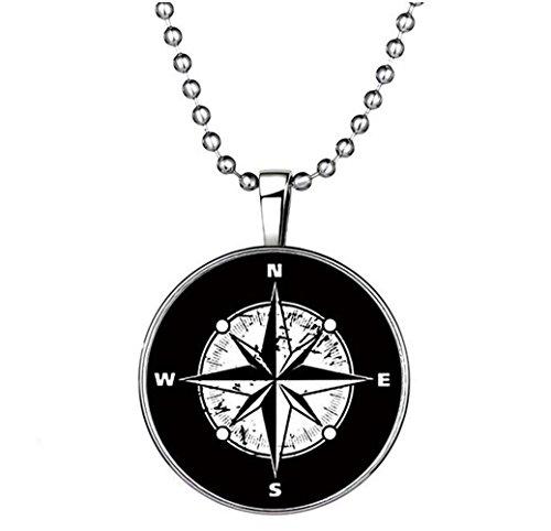 Winter's Secret Circle Restoring Compass Pendant Unisex Personality Punk Noctilucent Necklace