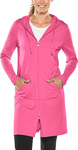 - Coolibar UPF 50+ Women's Cabana Hoodie - Sun Protective (X-Large- Poppy Pink)