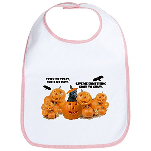 CafePress - Black Lab Halloween Bib - Cute Cloth Baby Bib, Toddler Bib