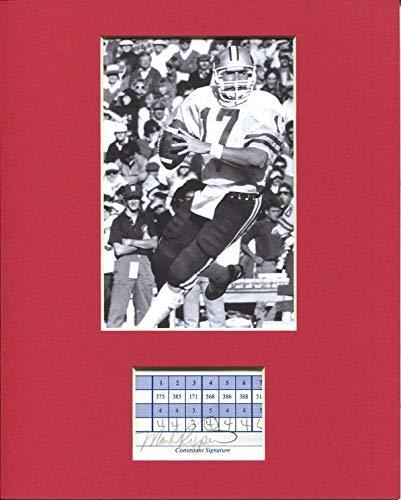 Washington Redskins Display - Drew Bledsoe Signed Photograph - Washington State Cougars Washington Redskins Display - Autographed NFL Photos