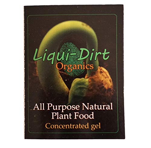 LiquiDirt Nano Powder All-Purpose Organic Fertilizer (Makes One Gallon) Formula Includes 18 Balanced Super Foods for Plants - Balanced Blend of Vitamins Minerals Micro-Fungi and Bio-Organisms