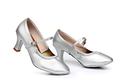 von cm Square weichen Modern taillierte Silber 5 mit mit Erwachsene Tanzschuhen Dance Höhe Dance Schuhe einer für ShangYi Damen für mit Sohlen Waltz Erwachsene hochhackigen Ballsaal Zwq4B7pSKg