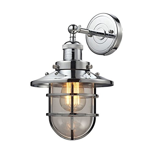 ELK Lighting 66346/1 Wall-sconces, 13 x 8 x 9, Chrome