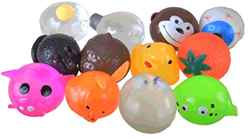 Rock Stress Ball (Squishy Splat Ball Assortment Pack (1 Dozen Splat Balls) by SquishyMart.com)