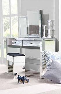 MY FurnitureMy Furniture Venetian Mirrored Dressing Table/Console U0026 Triple  Folding Dressing Table