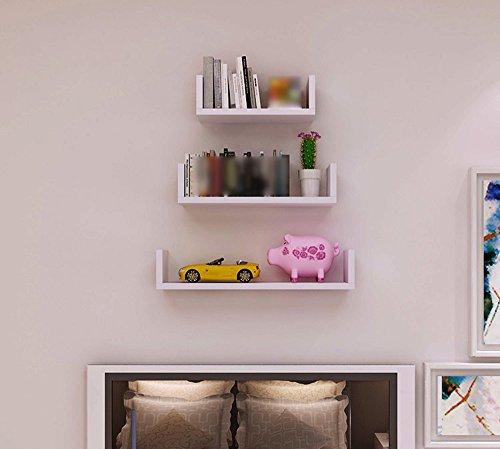 Shelf Creative Baffle Wall U Wall - Mounted Decorative Hanging Plate Bookcase Simple Modern by Shelf