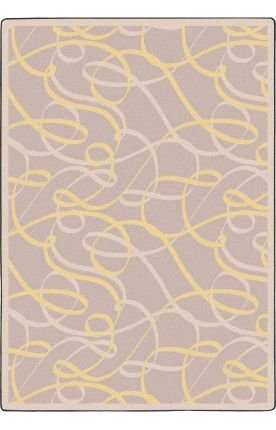 Joy Carpets Ribbons - Joy Carpets Playful Patterns - Children's Area Rugs Ribbons, 7'8