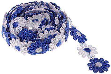 3ヤード レースリボン 刺繍テープ 縫製装飾 手芸材料 DIY工芸品 帽子 カーテン 装飾 3色選ぶ - コーヒー