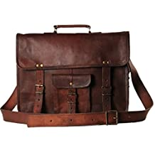 Leather Messenger Satchel Shoulder Laptop Bags for Men and Women 11 13 and 15 Inch Macbook and Laptops