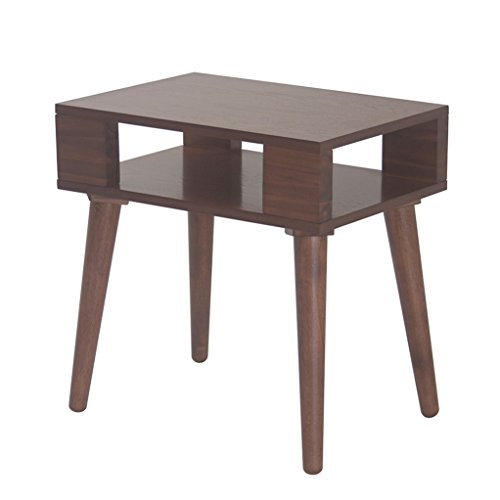 Mid Century Modern Wood Accent Nightstand End Side Table in