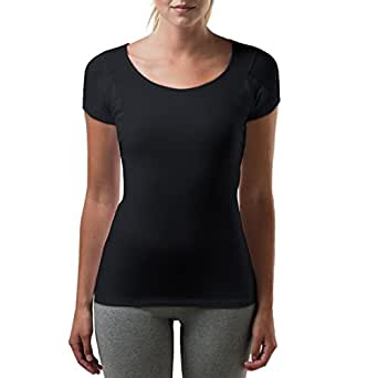 Thompson Tee With Sweat Pads Slim Fit Scoop, Bamboo, Black, X-Small