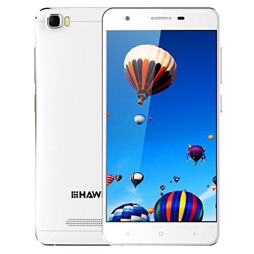 HAWEEL H1 RAM 1GB ROM 8GB 5.0 inch Android 5.1 Smartphone Quad Core MTK6580 1.2GHz 2000mAh Dual SIM Dual Camera(White)