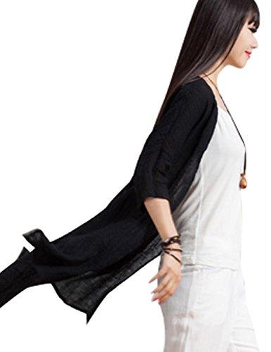 Primavera Camisetas Verano Blusas Youlee Lino Mujeres Abotonar Gris Estilo 2 4wSASqUEn