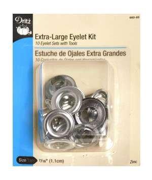 Dritz Extra Large Zinc Eyelet Grommet Kit 7/16'' (1.1cm) with Tool Kit