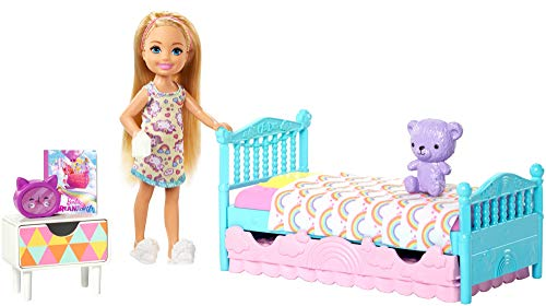 (Barbie Club Chelsea Bedtime Playset)
