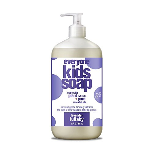 1 Bath Soap (Everyone 3-in-1 Soap for Every Kid Safe, Gentle and Natural Shampoo, Body Wash, and Bubble Bath, Lavender Lullaby)