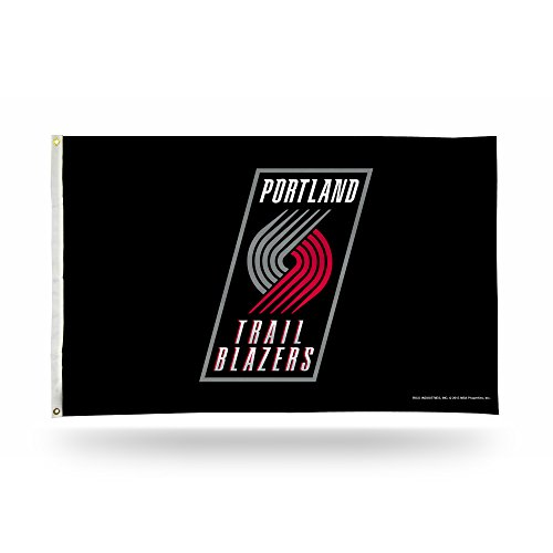 Rico Industries NBA Portland Trailblazers 3-Foot by 5-Foot Single Sided Banner Flag with Grommets