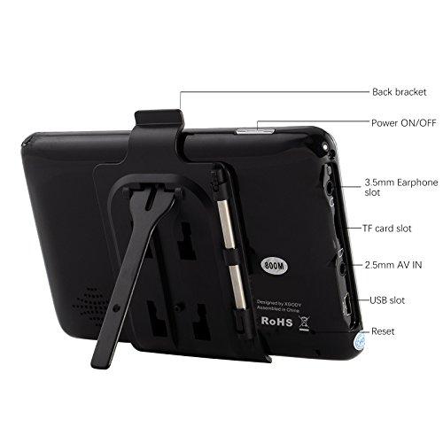 Xgody 560 - Navegador portátil para Coche con Bluetooth, GPS de 5 Pulgadas, Pantalla táctil de 8 GB, 128 MB,...