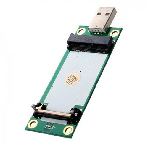 JSER Mini PCI-E Wireless WWAN to USB Adapter Card with SIM Card Slot Module Testing Tools