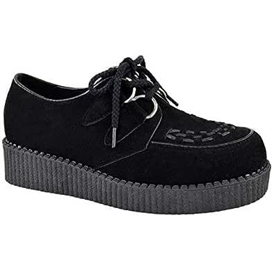 Fashion Thirsty Womens Creeper Goth Punk Platform Lace Up Shoes Flat Size 10 (US), 9.5 (AU)