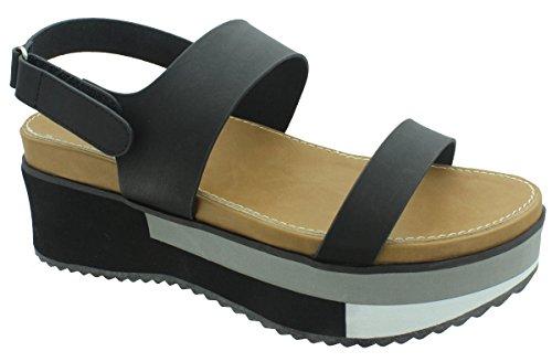 Pierre Dumas Women's Kimera-3 Color Block Platform Sandal