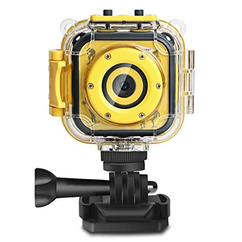 DROGRACE Children Kids Camera Waterproof Digital Video HD Action Camera 1080P Sports Camera Camcorder DV for Boys Girls Birthday Holiday Gift Learn Camera Toy 1.77'' LCD Screen ()