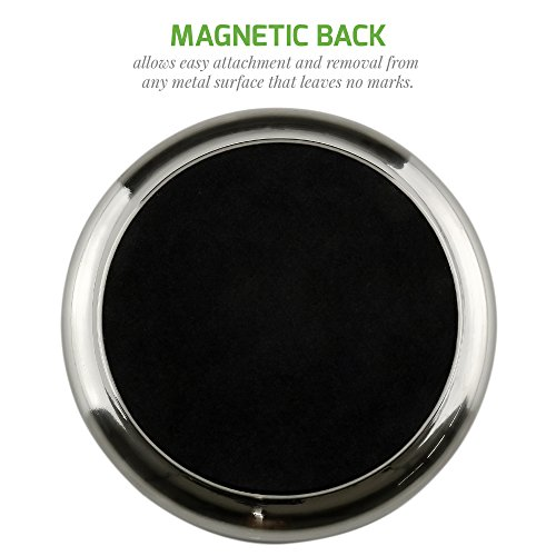 OVENTE Round Mirror, 3 Inches, 10 Magnification, Back Magnet, Brushed Nickel M100BR10x
