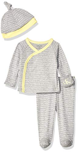 Calvin Klein Baby Newborn Take Me Home Set, Multi-Piece, ck Mini White,