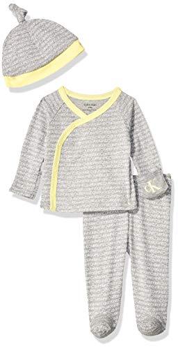 Calvin Klein Baby Newborn Take Me Home Set, Multi-Piece, ck Mini White, 0-3 Months (Ck Mini Set)