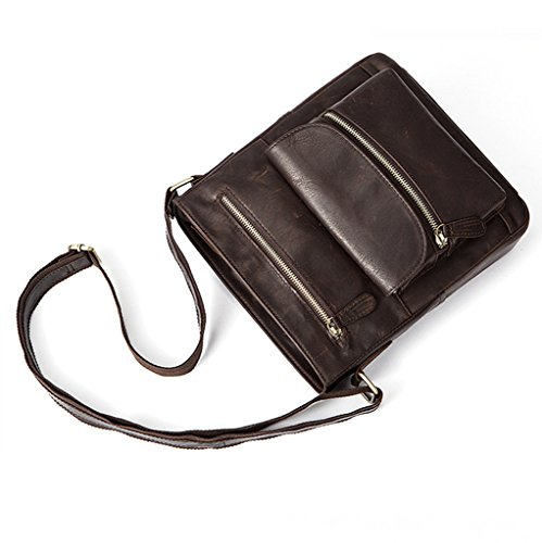 Vintage Large Leather 1 Shoulder Messenger Briefcases Sucastle Design Men's Bags Capacity pwYCgqR