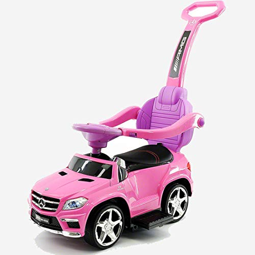 2019 LICENCED MERCEDES GLE63 PUSH KIDS RIDE-ON CAR TOYS TRUCK FOR KIDS TODDLERS WITH ROCKING CHAIR OPTION + (1 YEAR WARRANTY) | PINK -