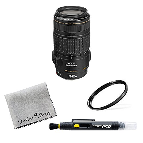 Canon EF 70-300mm f/4-5.6 IS USM Lens for Canon EOS SLR Cameras + Outlet Alpha Bundle by OutletBro's