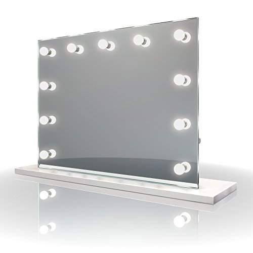 Diamond X Table Top Hollywood Vanity Mirror with Daylight Dimmable LED k95sCW